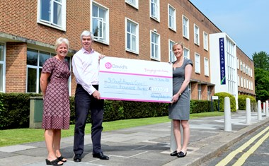 £7,000 to St David's Hospice